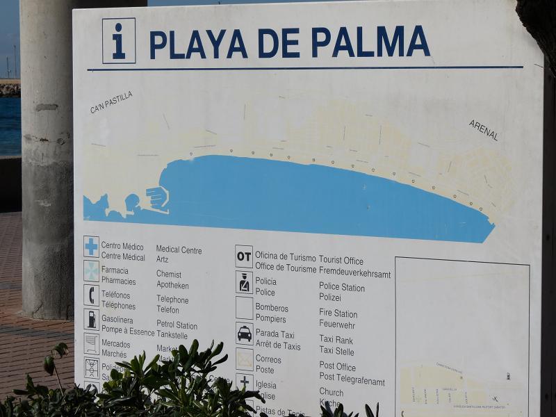 cartel indicador playa de palma
