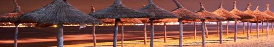 playa de palma de noche
